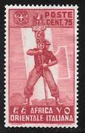 Italian Eastern Africa, Scott # 11 Unused No Gum Fascist Legionary, 1938 - Italian Eastern Africa