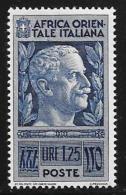 Italian Eastern Africa, Scott # 13 Mint Hinged Victor Emmanuel Lll, 1938 - Italian Eastern Africa