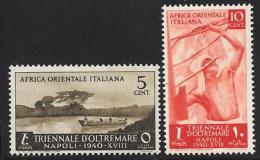 Italian Eastern Africa, Scott # 27-8 Mint Hinged Boat, Soldier, 1940 - Italian Eastern Africa