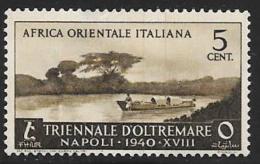 Italian Eastern Africa, Scott # 27 Mint Hinged Boat, 1940, Small Hinge Thin - Italian Eastern Africa