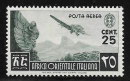 Italian Eastern Africa, Scott # C1 Mint Hinged Plane Over Mountains,1938 - Italian Eastern Africa