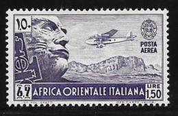 Italian Eastern Africa, Scott # C6 Mint Hinged Mussolini Face On Cliff,1938 - Italienisch Ost-Afrika