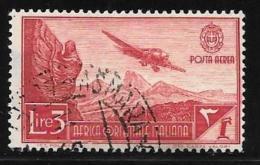 Italian Eastern Africa, Scott # C8 Used Plane Over Mountains,1938 - Italian Eastern Africa