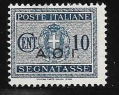 Italian Eastern Africa, Scott # J2 Mint Hinged Italy Postage Due,overprinted,1941, Thin - Italian Eastern Africa