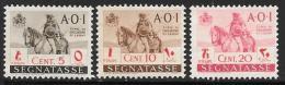 Italian Eastern Africa, Scott Unlisted Mint Hinged Postage Due 5,10,20cent ,1943 - Italian Eastern Africa