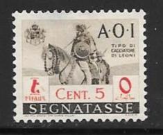 Italian Eastern Africa, Scott Unlisted Mint Hinged Postage Due 5cent ,1943 - Italian Eastern Africa