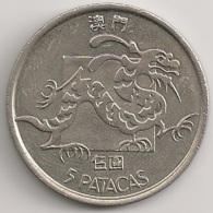 Moeda Macau/Portugal - Coin Macao 5 Patacas 1982 - MBC