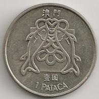Moeda Macau/Portugal - Coin Macao 1 Pataca 1982 - MBC