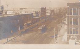 GREAT RPPC REAL PHOTO POSTCARD BARTLESVILLE OKLAHOMA 1909 TROLLEY , ICE CREAM - Bartlesville