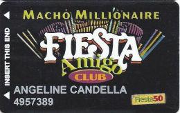 Fiesta Casino Las Vegas, NV - Slot Card Copyright 2001- Fiesta 50 Senior Sticker - Casino Cards