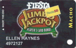 Fiesta Casino Las Vegas, NV - Slot Card Copyright 2004  - Fiesta 50 Senior Sticker - Casino Cards
