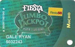 Fiesta Casino Las Vegas, NV - Slot Card Copyright 2005 - Fiesta 50 Senior Sticker - Casino Cards
