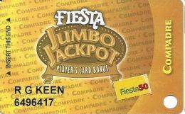 Fiesta Casino Las Vegas, NV - Slot Card Copyright 2006 - Fiesta 50 Senior Sticker - Casino Cards