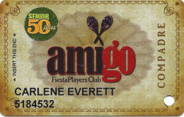 Fiesta Casino Las Vegas, NV - Slot Card Copyright 2009 - H Over Mag Stripe - Senior 50 Plus - Casino Cards