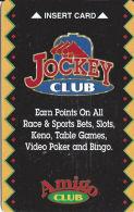 Fiesta Casino Las Vegas, NV - Slot Card - Jockey Club  (BLANK) - Casino Cards