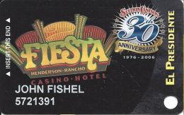 Fiesta Casino Las Vegas, NV - Slot Card Copyright 2006 - Casino Cards