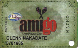 Fiesta Casino Las Vegas, NV - Slot Card Copyright 2009 - Fiesta 50 Senior Sticker - Casino Cards