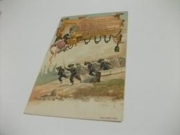ILLUSTRATORE 16° BATTAGLIONE BERSAGLIERI PONTE DI VERSA TEN. ANSELMI CUNEO - Regimenten