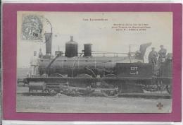 LES LOCOMOTIVES  Machine De La Cie De L' Est - Treni