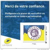 Timbres  Personnalisés Philaposte : Collector Timbre Personnalisé 2016 Passionné 100% Pour Les Abonnés - Personalized Stamps (MonTimbraMoi)