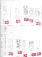 50 Flammes Années 90 - Marcophilie (Lettres)