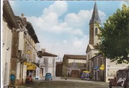 CPSM    ALBIAS 82  Place De L'église - Albias