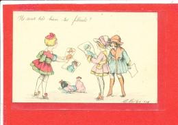 Illustrateur MAITREJEAN Cpa Animée Ils Sont Tres Beaux Tes Filleuls - Illustrateurs & Photographes