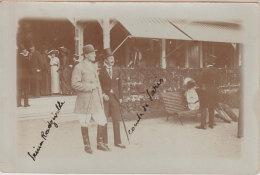 1909-10  Bois Boulogne Bagatelle Comte De Paris Prince Radziville 2 Photos Noblesse Photogr P. Guérin à Paris Dos Scanné - Berühmtheiten