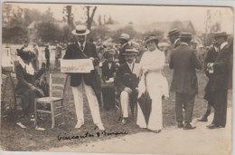 1909-10  Bois Boulogne Bagatelle Concours Hippique TB Plan Carte-photo Noblesse Gentry Phot P. Guérin à Paris Dos Scanné - Berühmtheiten