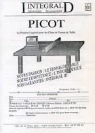 FRANCE - BON COMMANDE Logiciel Gestion PICOT - INTEGRAL ID 1993/1994 - Tennis Table Tischtennis Tavolo - Tennis De Table
