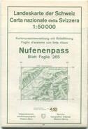 Schweiz - Landeskarte Der Schweiz 1:50 000 - Nufenenpass Blatt 265 - Eidgenössische Landestopographie Bern 1961 - Mit Re - Topographische Karten