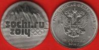 "Russia 25 Roubles 2014 Y#1298 "" Winter Olympics, Sochi - Logo"" UNC - Rusia"