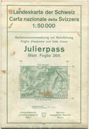 Schweiz - Landeskarte Der Schweiz 1:50 000 - Julierpass Blatt 268 - Eidgenössische Landestopographie Bern 1965 - Mit Rel - Topographische Karten