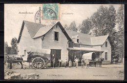 MANTHELAN N°9 - LA LAITERIE - ATTELAGE DONT COOPERATIVE DE LIGUEIL EN BEAU PLAN - ANIMEE - BRAULT. - France