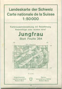 Schweiz - Landeskarte Der Schweiz 1:50 000 - Jungfrau Blatt 264 - Eidgenössische Landestopographie Bern 1966 - Mit Relie - Topographische Karten