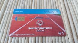 Phonecard Special Olympics  Belgium  Used Rare - Mit Chip