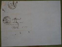 Enveloppe Avec Cad De Auxerre Du 3 Aout 1835, Pour Troyes, 3 Décimes - 1801-1848: Précurseurs XIX