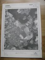 GRAND PHOTO VUE AERIENNE 66 Cm X 48 Cm De 1979  LOBBES SARS LA BUISSIERE - Cartes Topographiques