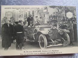 SOCIETE FRANCAISE DES ROUES AMOVIBLES  .RUE FRANKLIN IVRY PORT . MR RAYMOND POINCARE - Postcards