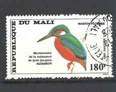 MALI     1985 Airmail - Birds - The 200th Anniversary Of The Birth Of John J. Audubon, 1785-1851  Common Kingfisher USED - Mali (1959-...)