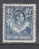 Northern Rhodesia George V1, 1938, 4 1/2d, C.d.s. Used - Northern Rhodesia (...-1963)