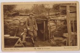 Belgische Hulppost  In De Loopgraven Van De IJzer - Guerre 1914-18