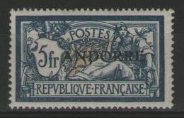 ANDORRE Français N°21 ** (signé Scheller)    - Cote 290€ -