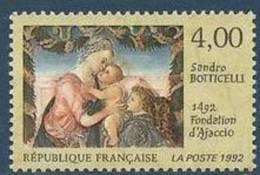 "FR YT 2754 "" Fondation D'Ajaccio S. Botticelli "" 1992 Neuf** - France"