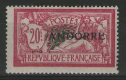 ANDORRE Français N°23 ** (signé Scheller)    - Cote 850€ -