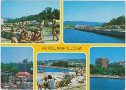 Postcard Jugoslavia Yugoslavia Portoroz Avtocamp Lucija Joegoslavie - Yougoslavie