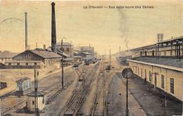 71-LE CREUSOT- VUE EXTERIEURE DES USINES (TRAIN) - Le Creusot