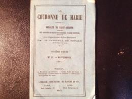 LA COURONNE DE MARIE, 1865,  N° 11, Novembre. - Christianisme