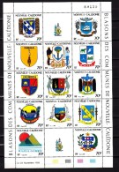 New Caledonia 1993,13V In Sheetlet, Coat Of Arms, Shells, Fishes, Birds,MNH/Postfris(L2673) - Wapenschild