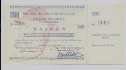 Charbonnages Andre Dumont Waterschei KASBON 200 Frank 17 Mei 1940 - Mines